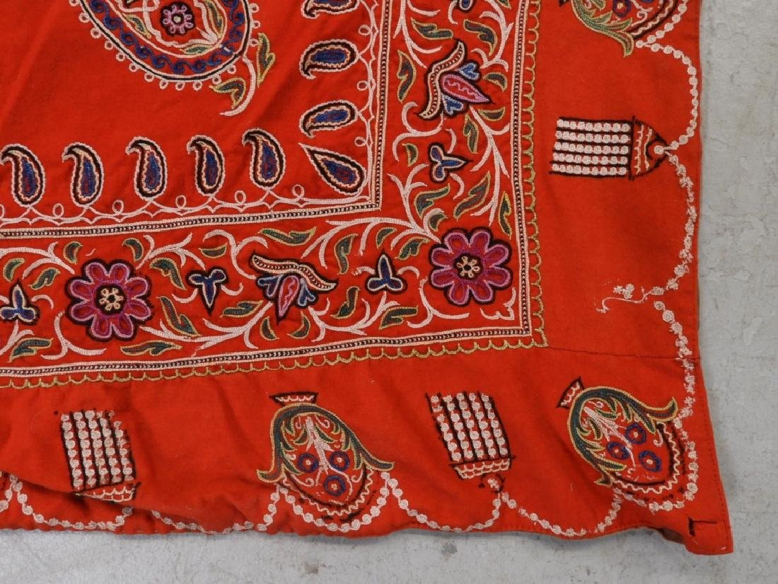 Middle Eastern Embroidered Textile Shawl - 3