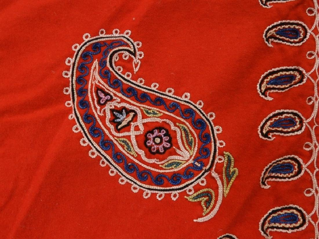 Middle Eastern Embroidered Textile Shawl - 4