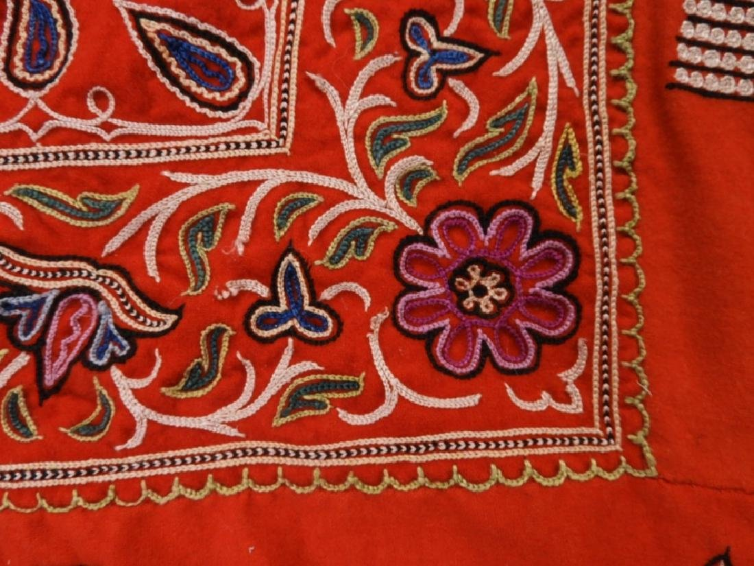 Middle Eastern Embroidered Textile Shawl - 5