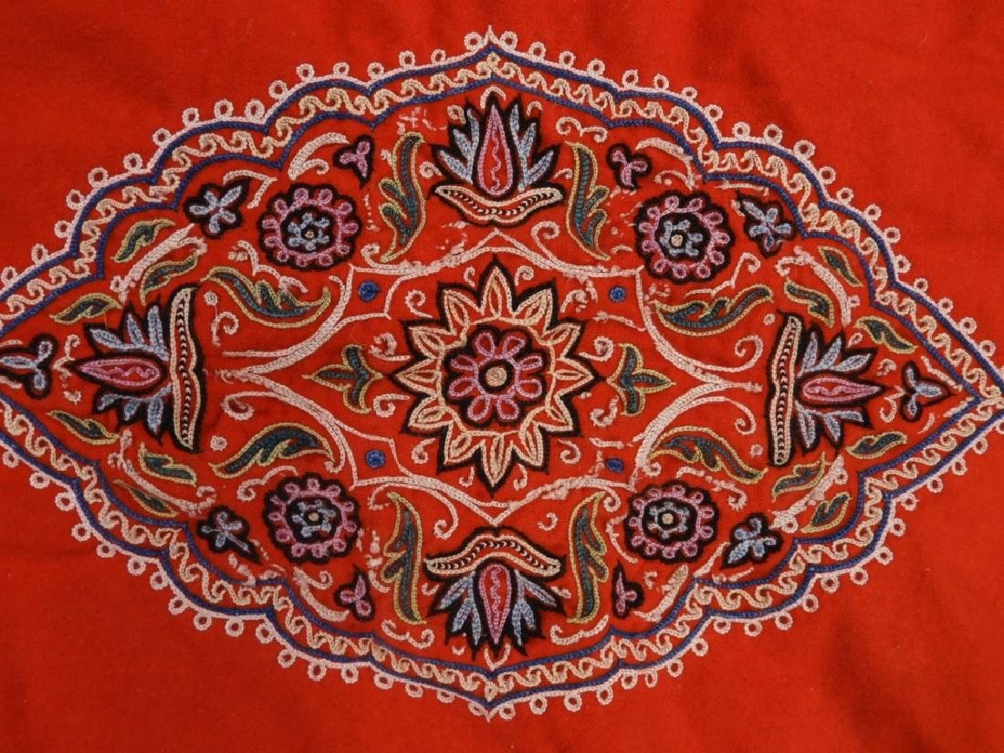 Middle Eastern Embroidered Textile Shawl - 6