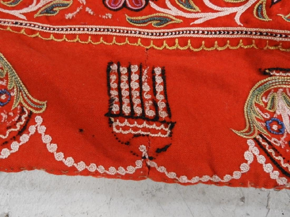 Middle Eastern Embroidered Textile Shawl - 7