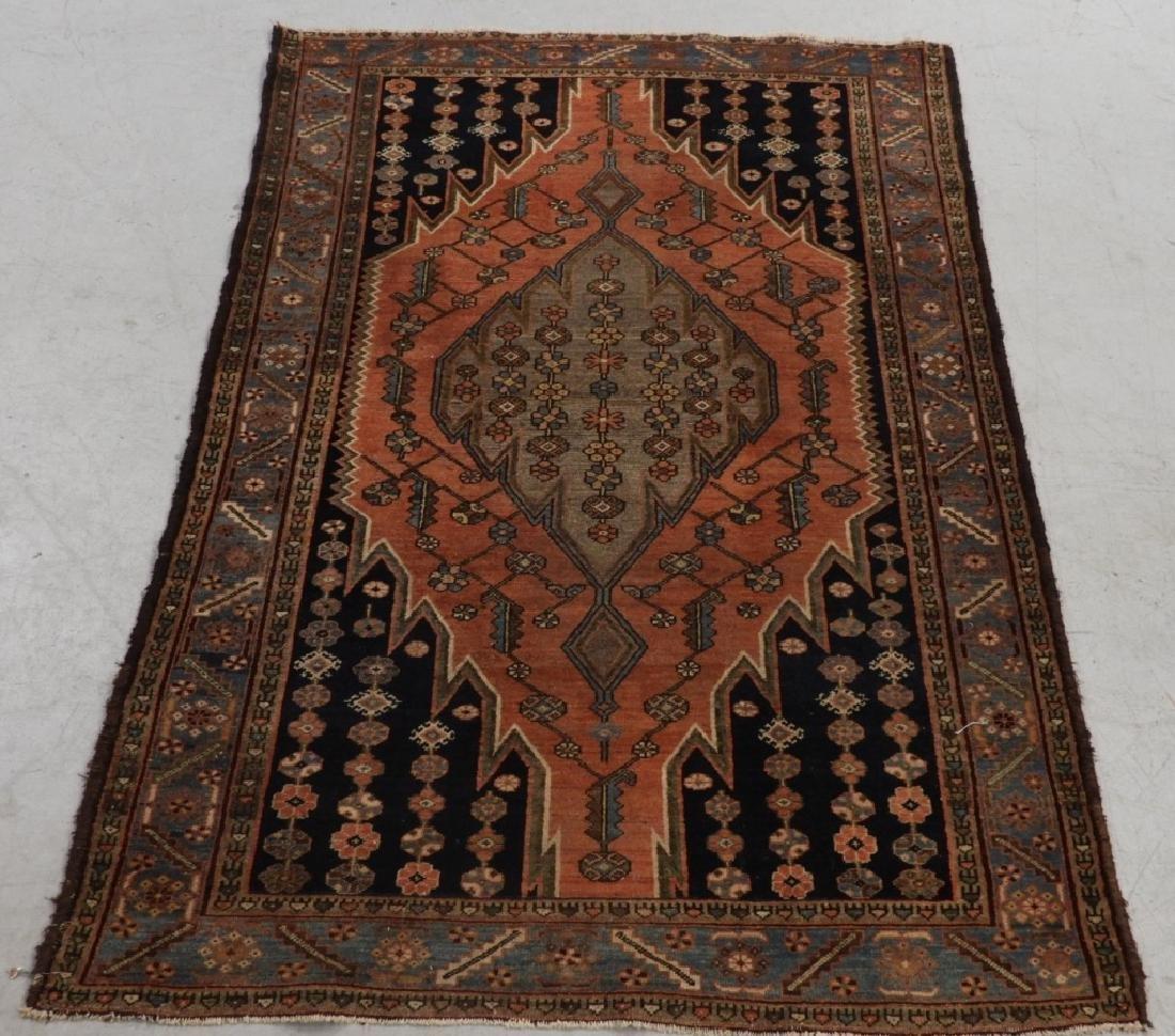 Persian Mazlagan Wool Carpet Rug