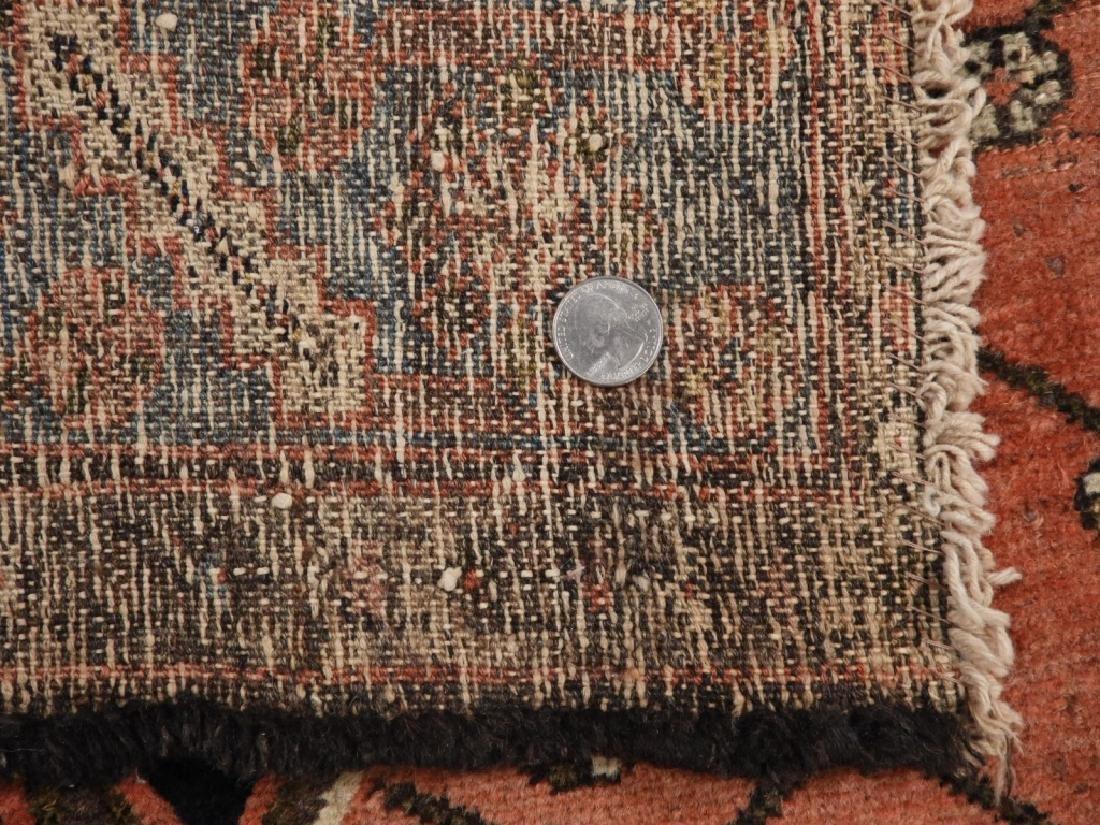 Persian Mazlagan Wool Carpet Rug - 7