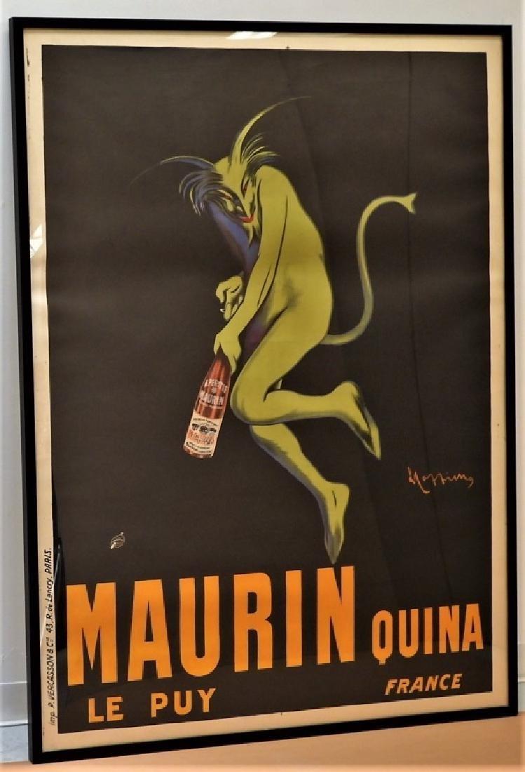 LARGE Leonetto Cappiello Maurin Quina Poster