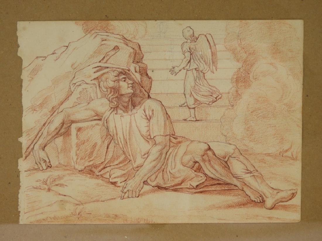 2 19C Renaissance Revival Old Master Sepia Drawing - 2