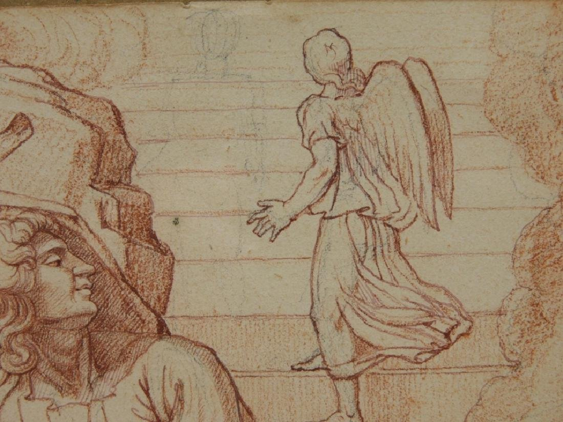 2 19C Renaissance Revival Old Master Sepia Drawing - 4