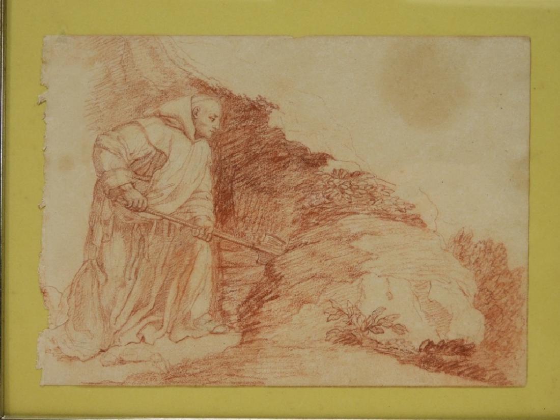 2 19C Renaissance Revival Old Master Sepia Drawing - 6