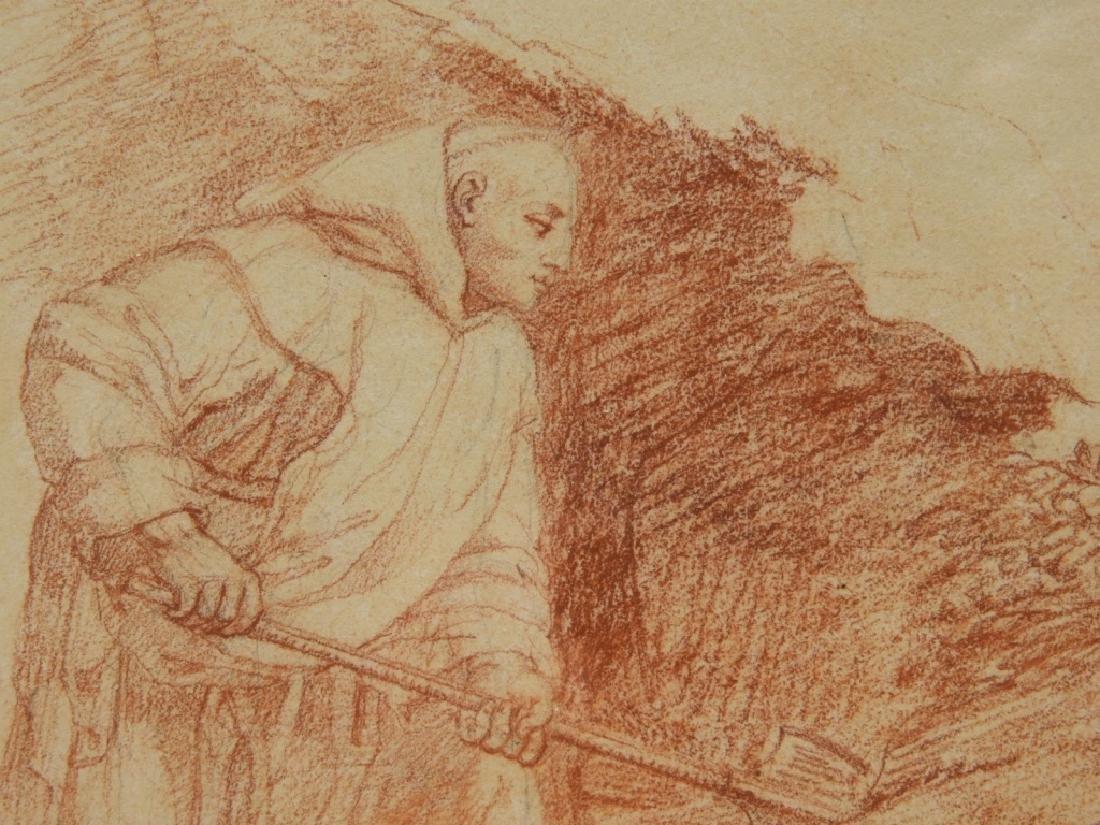2 19C Renaissance Revival Old Master Sepia Drawing - 7