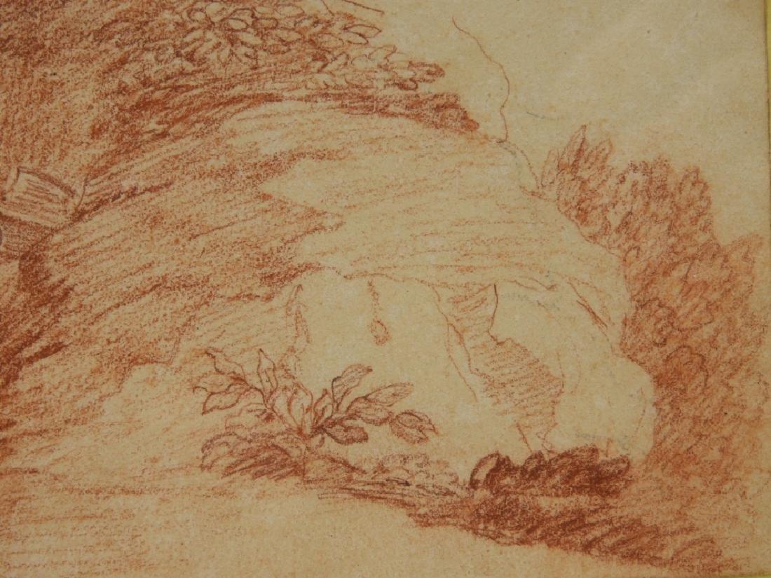 2 19C Renaissance Revival Old Master Sepia Drawing - 8