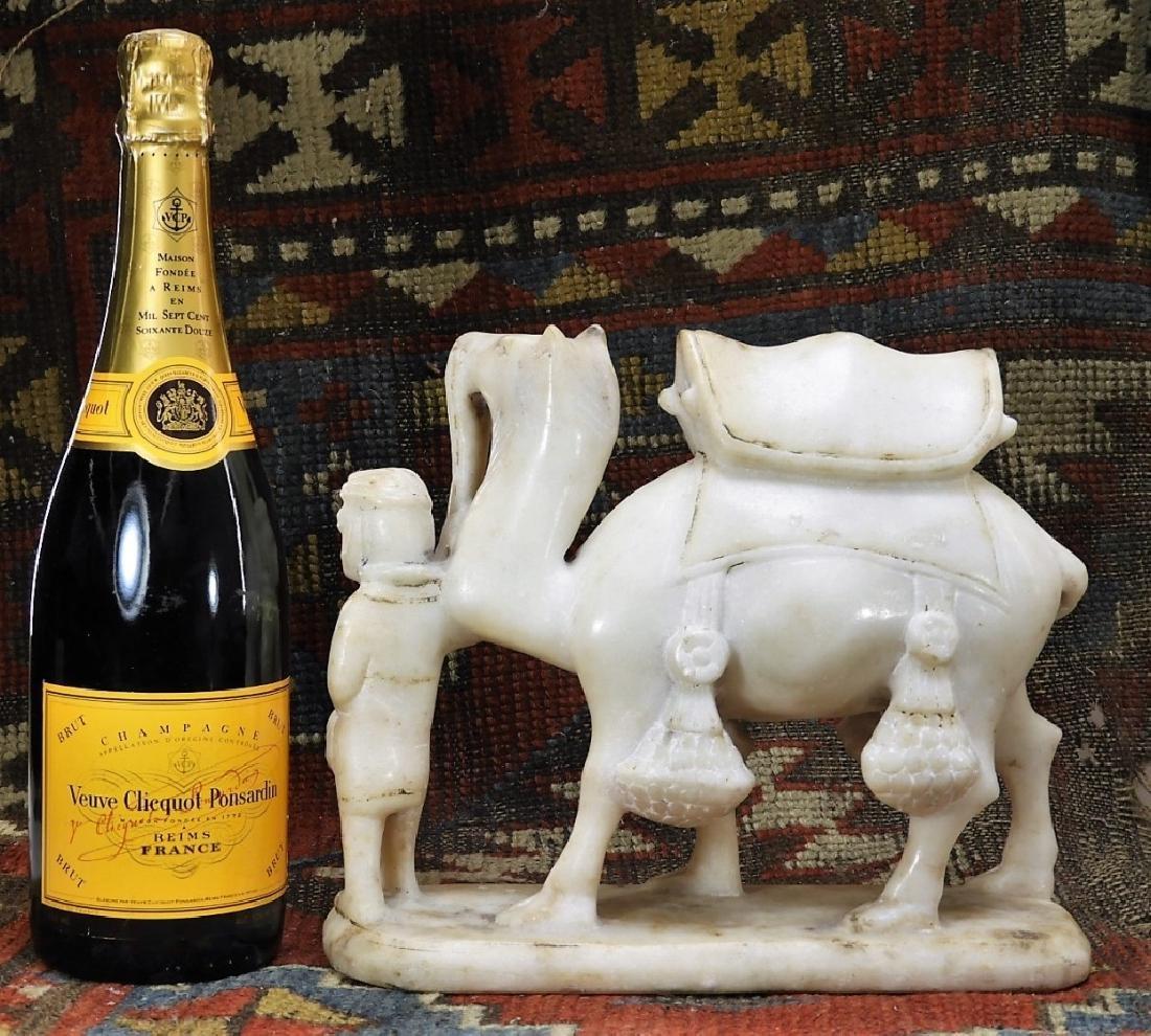 FINE South Arabian Alabaster Camel Farmer Carving - 7
