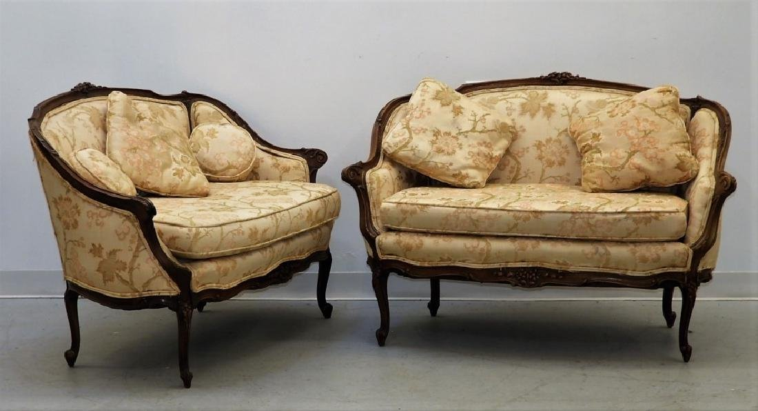 PR Louis XV Style Upholstered Canape Settees