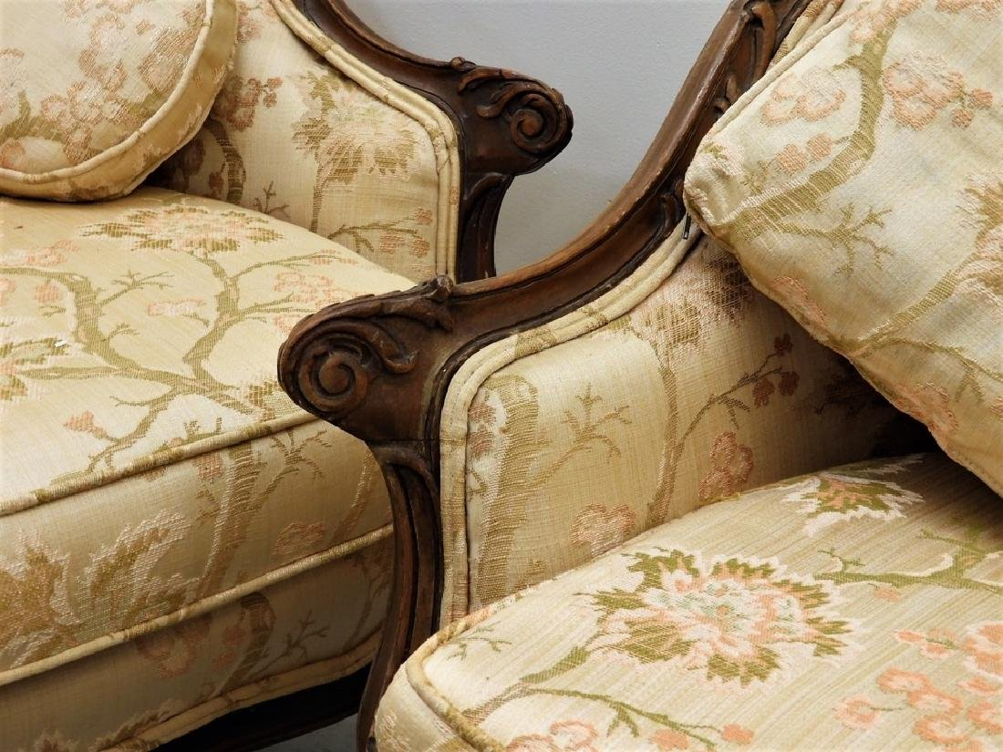 PR Louis XV Style Upholstered Canape Settees - 5