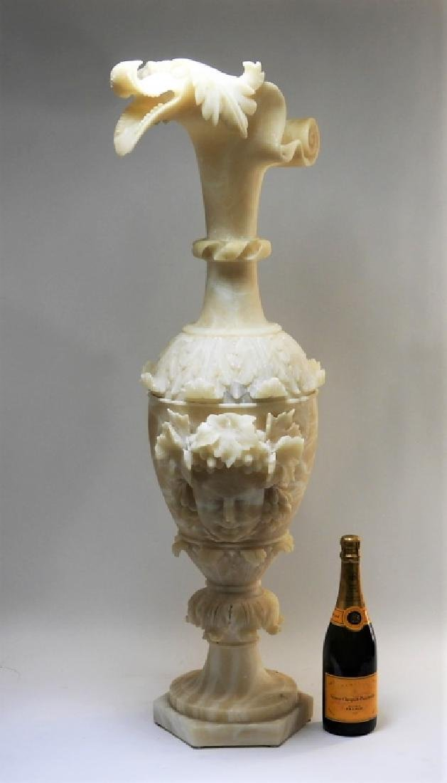 19C European Grand Tour Neoclassical Alabaster Urn