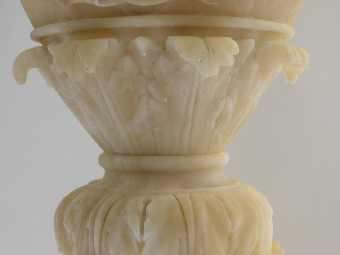 19C European Grand Tour Neoclassical Alabaster Urn - 4
