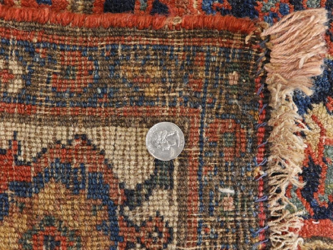 Antique Persian Bidjar Carpet Rug - 5