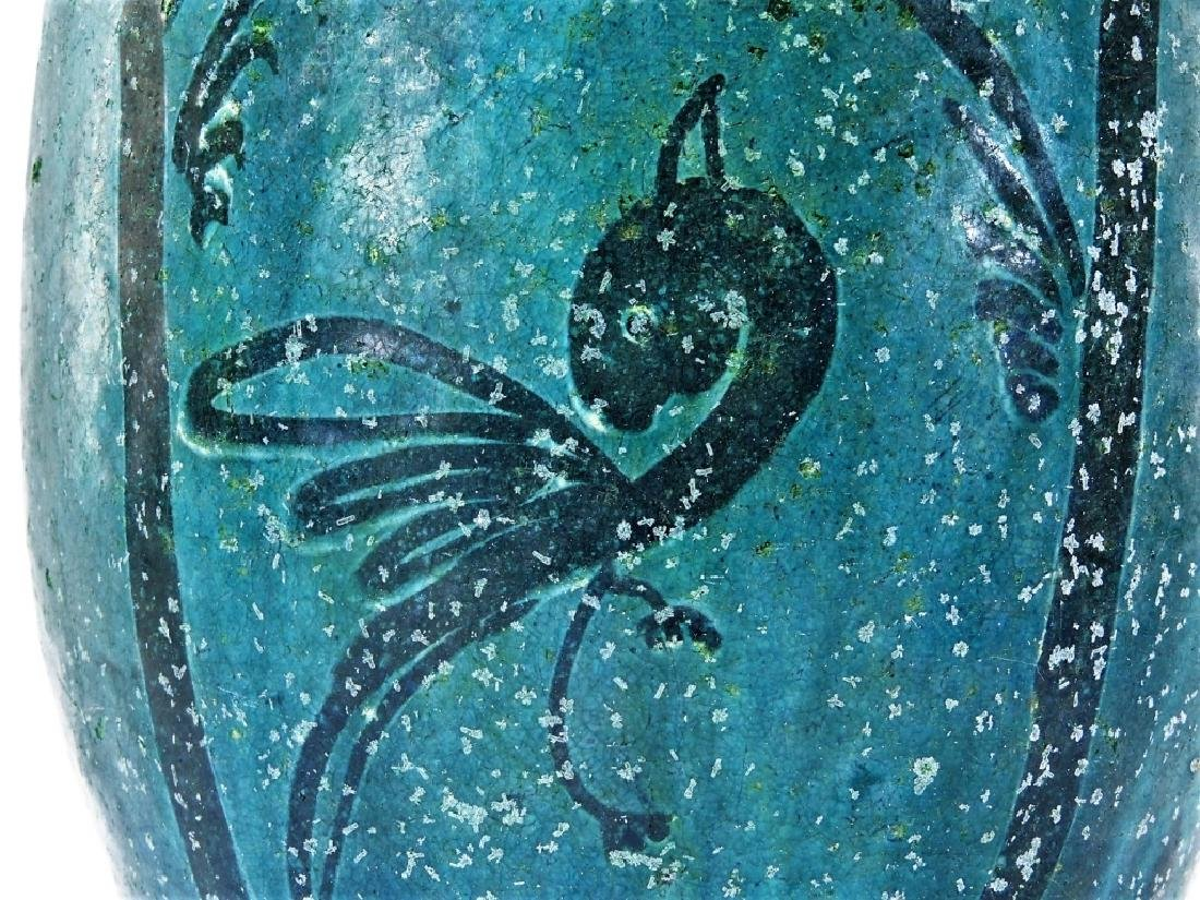 18C. Chinese Turquoise Glaze Earthenware Jar - 3