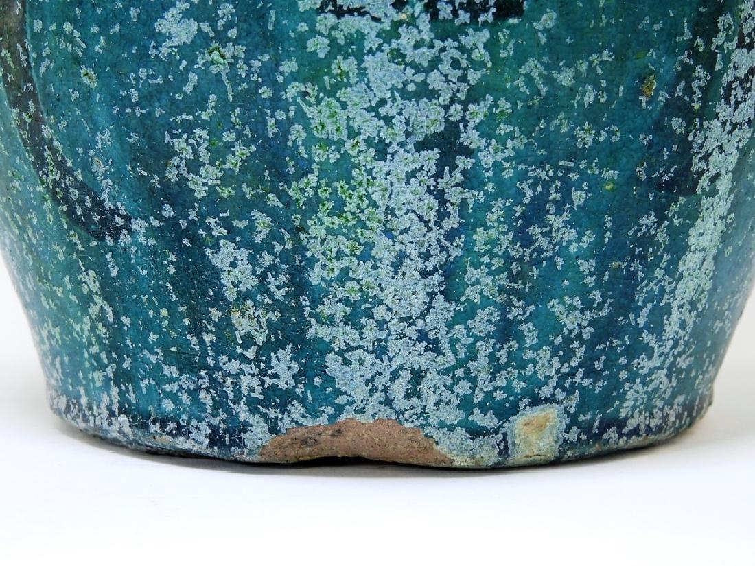 18C. Chinese Turquoise Glaze Earthenware Jar - 7