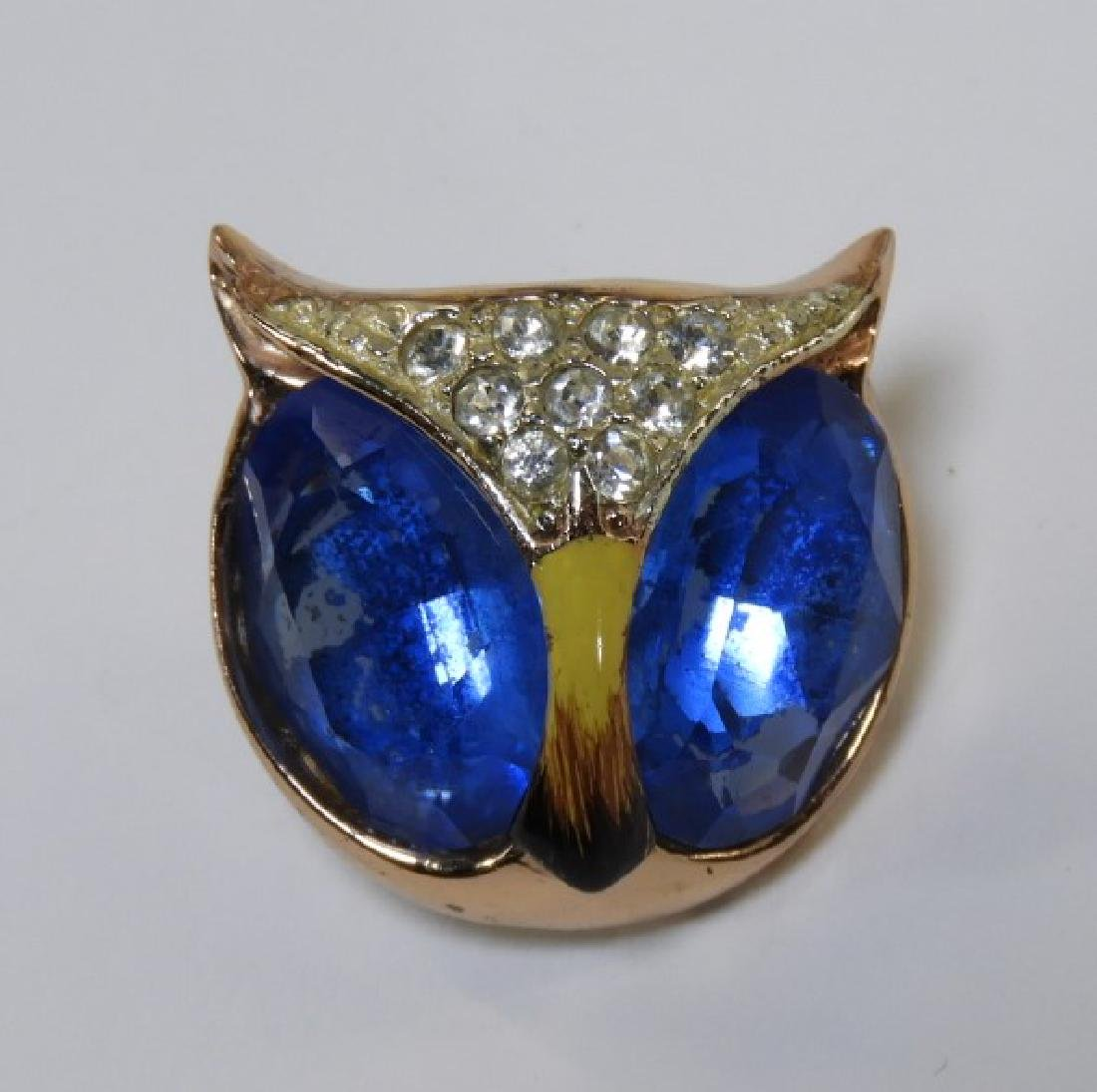 Coro Craft Enameled Sterling Silver Owl Duet Set - 5