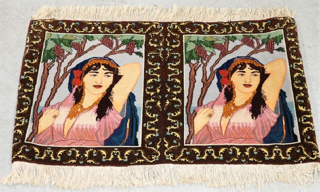 Persian Contemporary Pictorial Rug of a Lady