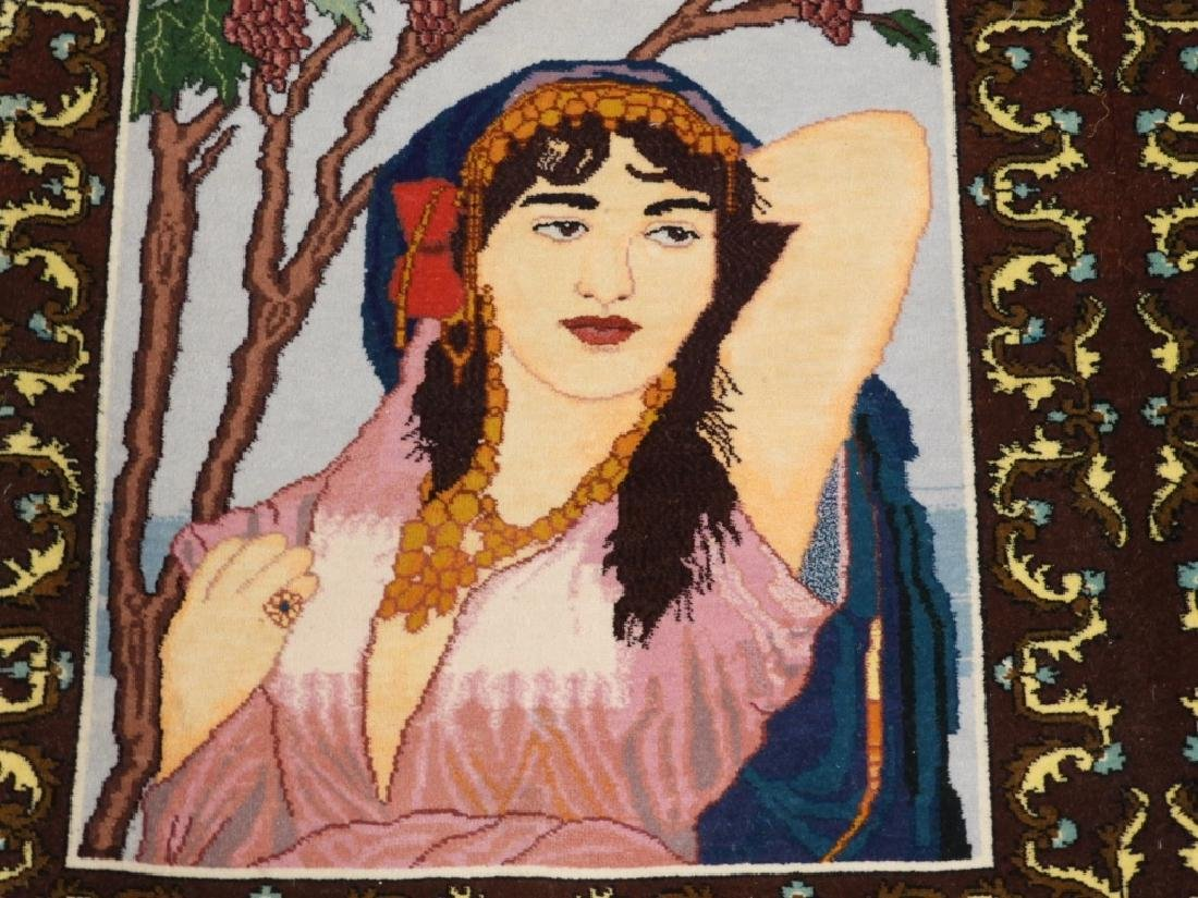 Persian Contemporary Pictorial Rug of a Lady - 2