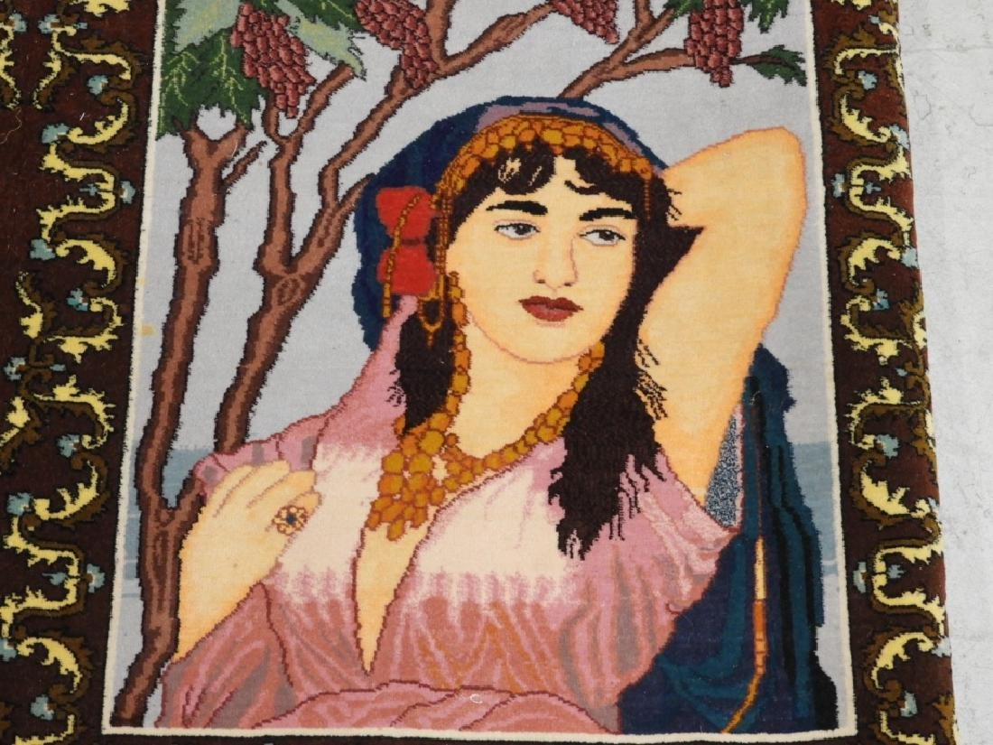 Persian Contemporary Pictorial Rug of a Lady - 3