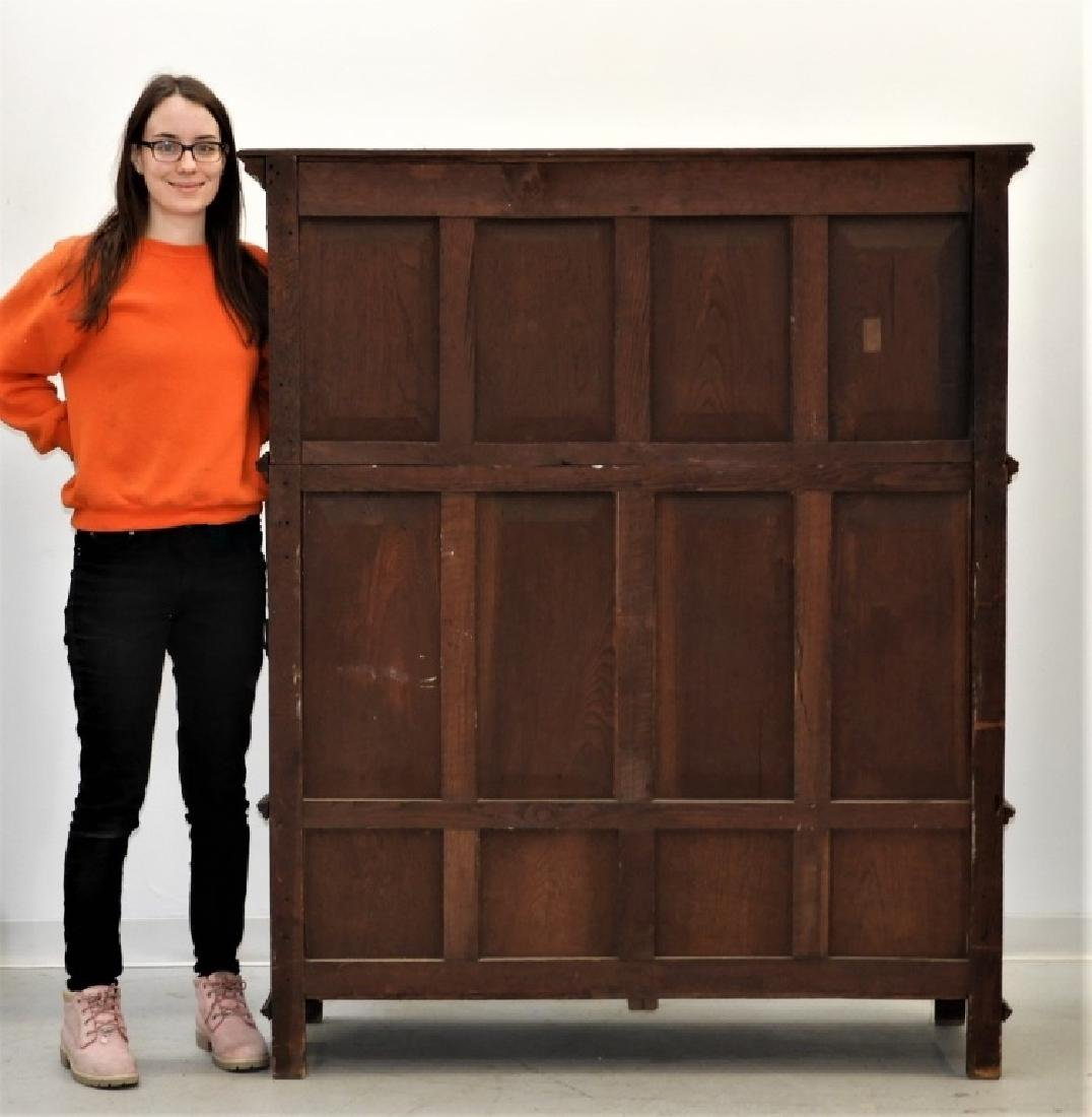 Continental Oak Renaissance Revival Court Cupboard - 10