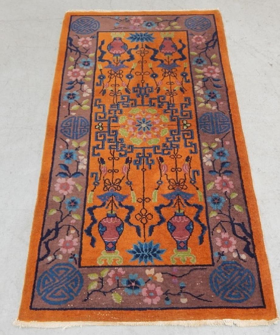 Chinese Art Deco Wool Carpet Rug Runner