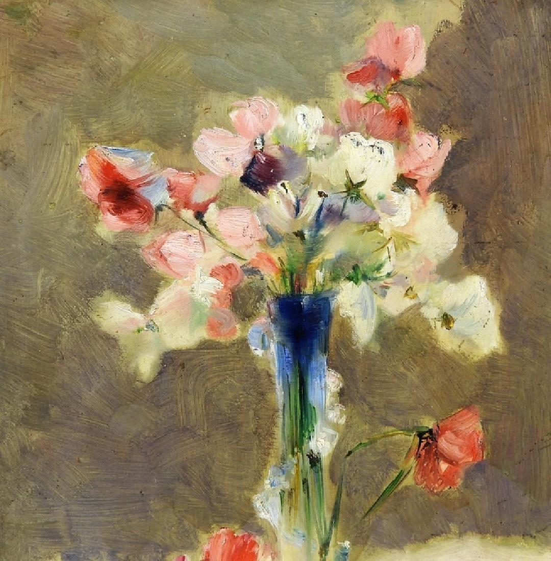 Hugo Breul Impressionist O/B Painting of Roses - 2