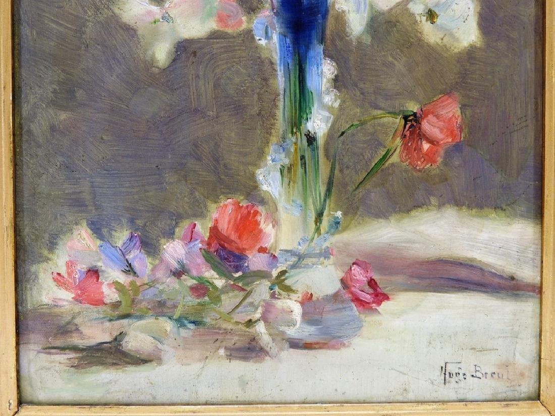 Hugo Breul Impressionist O/B Painting of Roses - 3