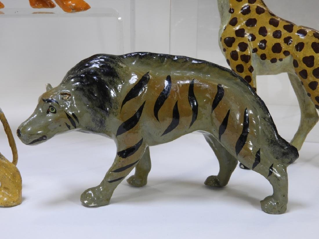 9 Early German Papier Mache African Safari Animals - 10