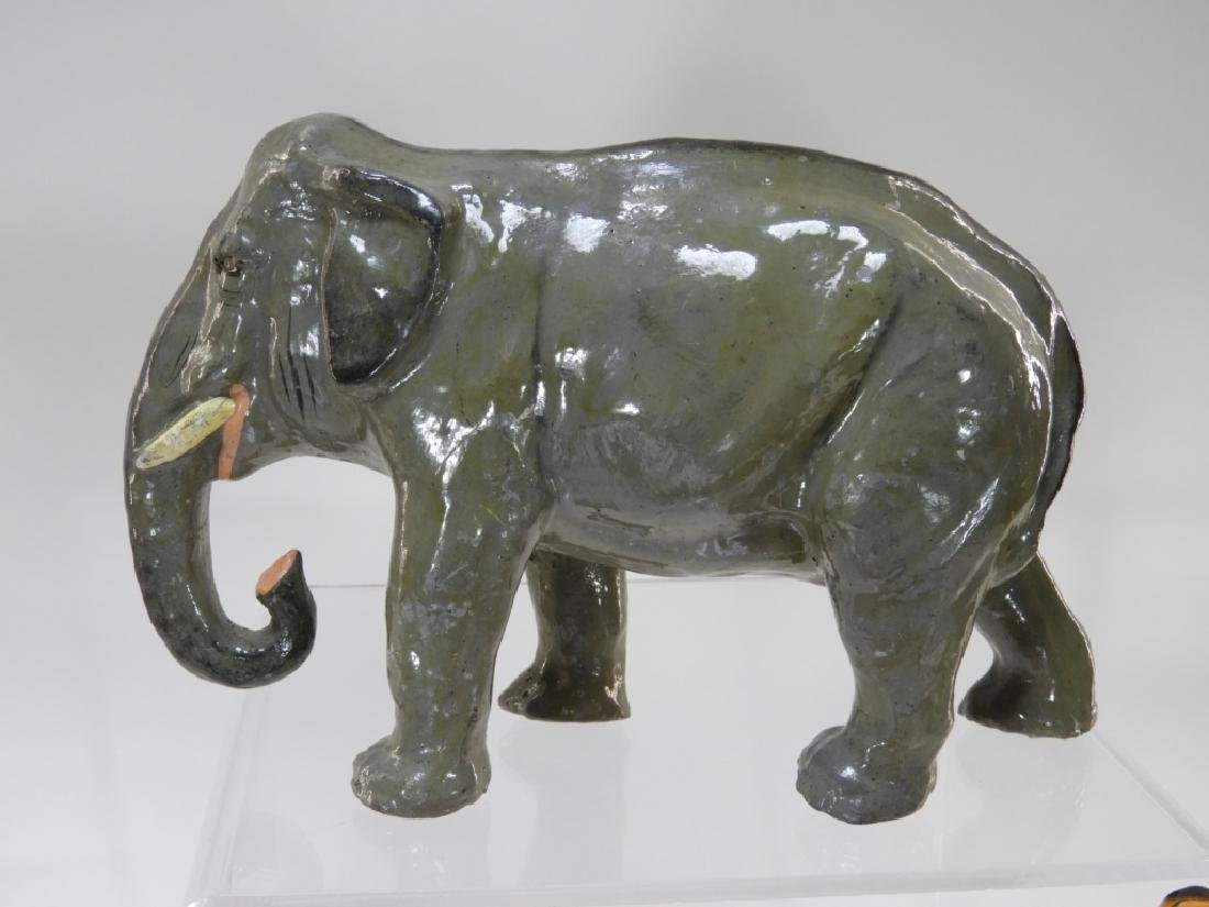 9 Early German Papier Mache African Safari Animals - 2