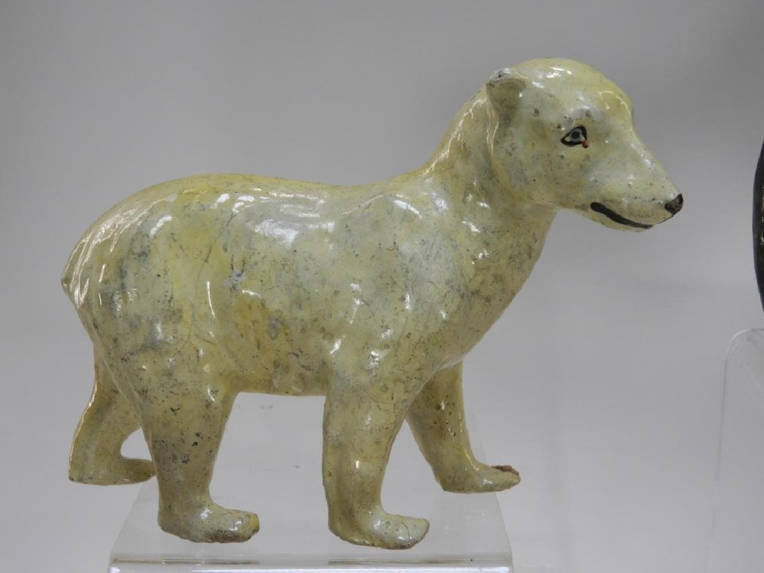9 Early German Papier Mache African Safari Animals - 3