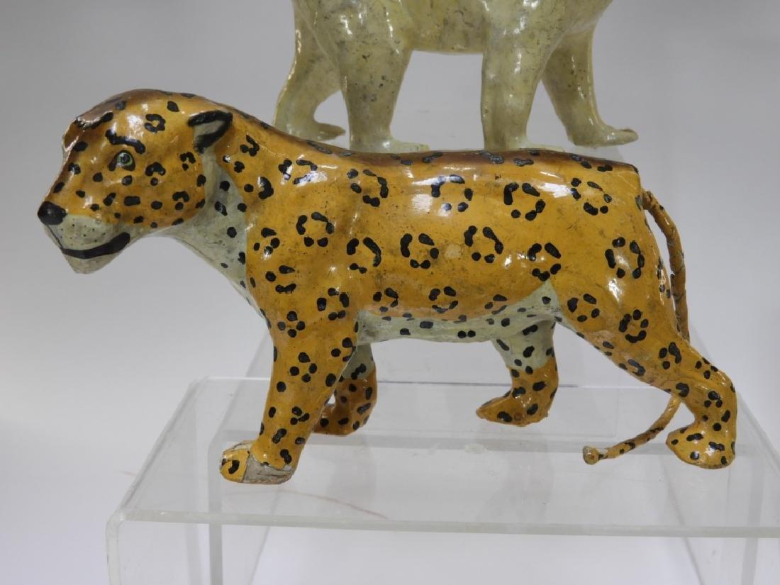 9 Early German Papier Mache African Safari Animals - 4
