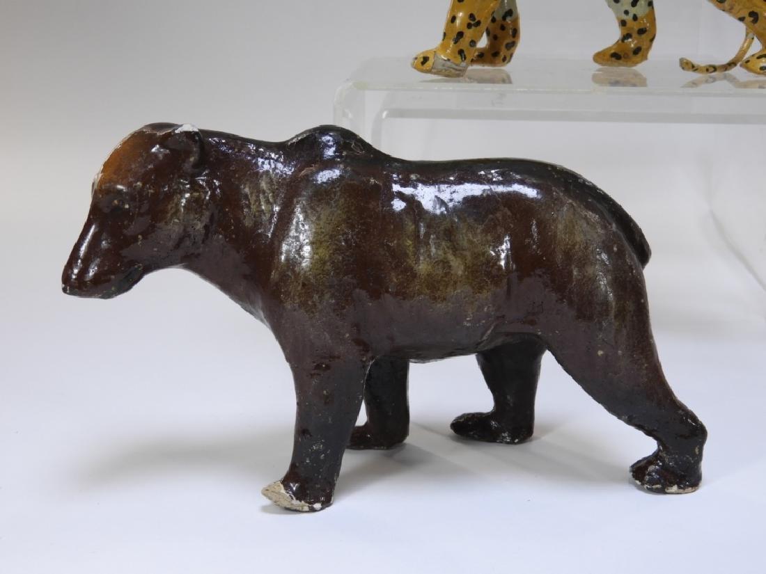 9 Early German Papier Mache African Safari Animals - 5