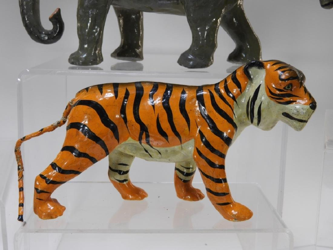 9 Early German Papier Mache African Safari Animals - 6