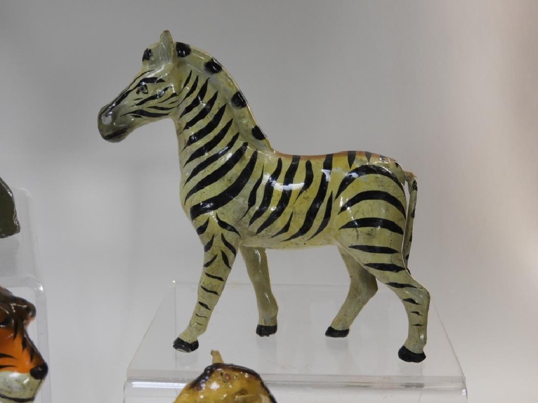 9 Early German Papier Mache African Safari Animals - 8