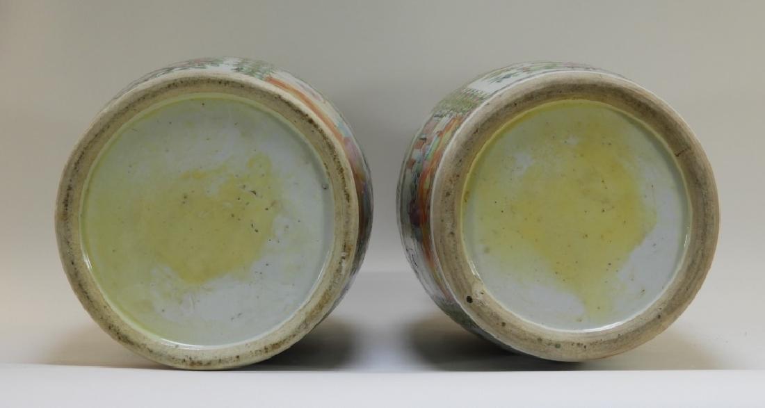 PR 19C. Chinese Rose Medallion Porcelain Vases - 10