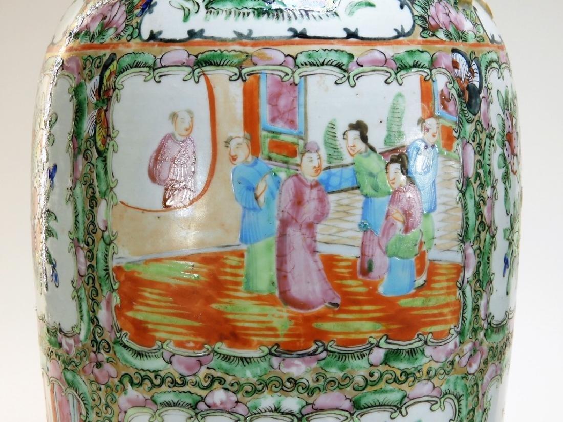 PR 19C. Chinese Rose Medallion Porcelain Vases - 4