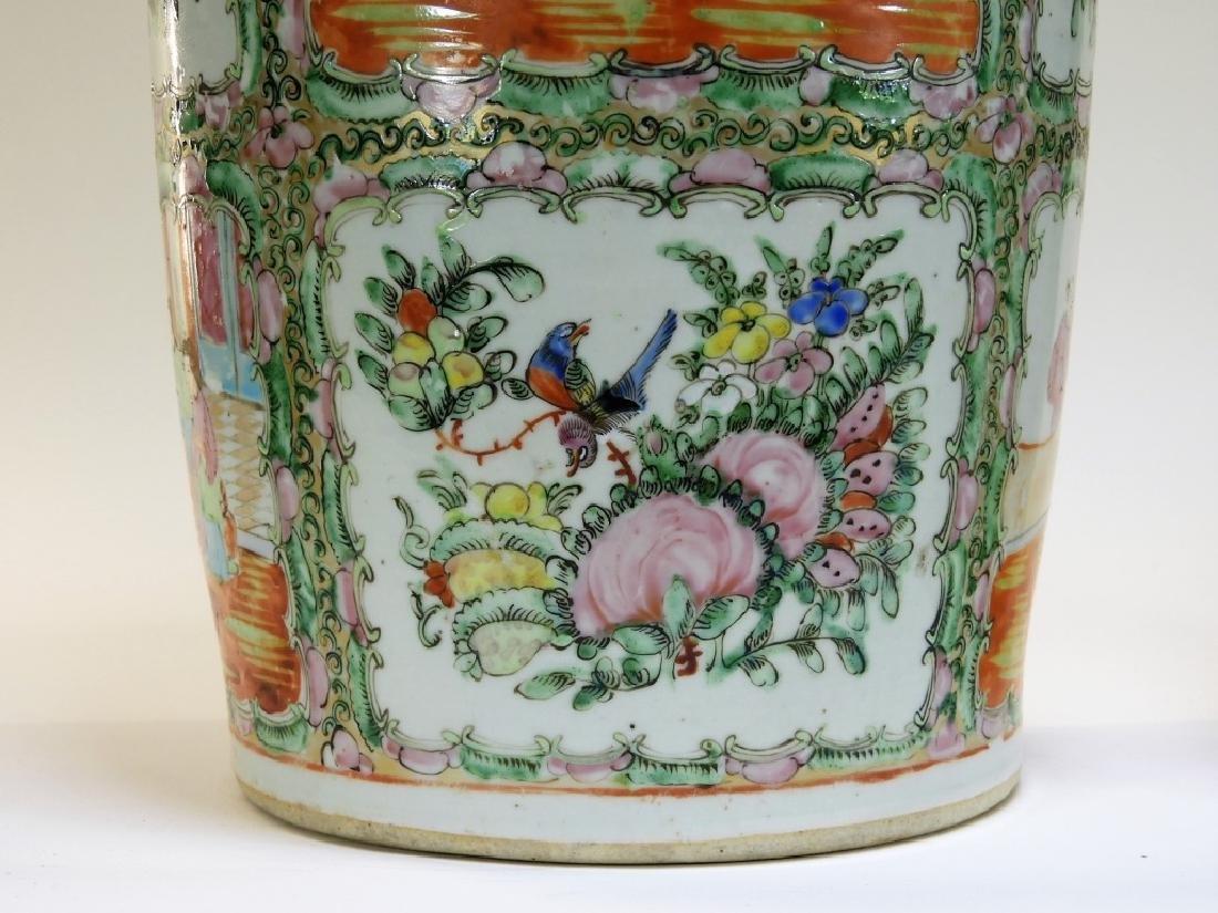 PR 19C. Chinese Rose Medallion Porcelain Vases - 5