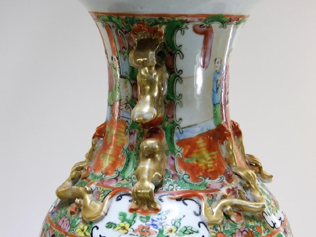 PR 19C. Chinese Rose Medallion Porcelain Vases - 6