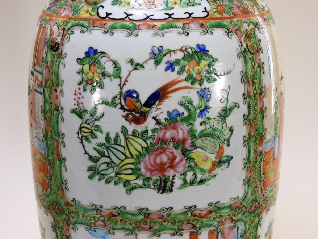 PR 19C. Chinese Rose Medallion Porcelain Vases - 7