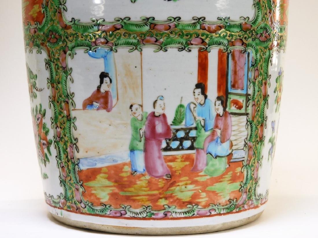 PR 19C. Chinese Rose Medallion Porcelain Vases - 8