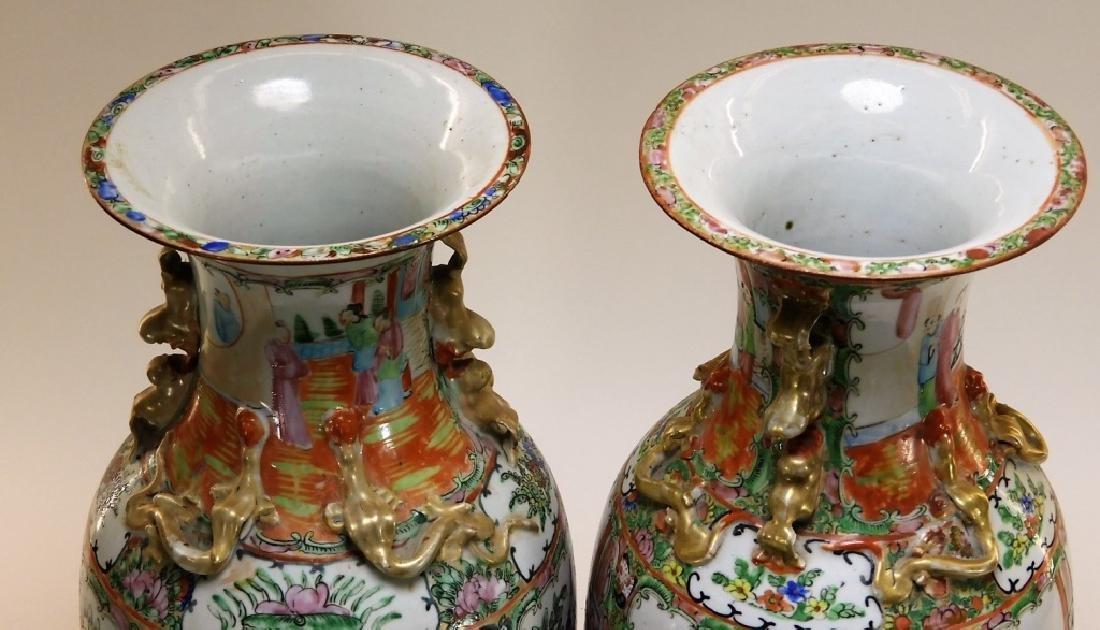 PR 19C. Chinese Rose Medallion Porcelain Vases - 9