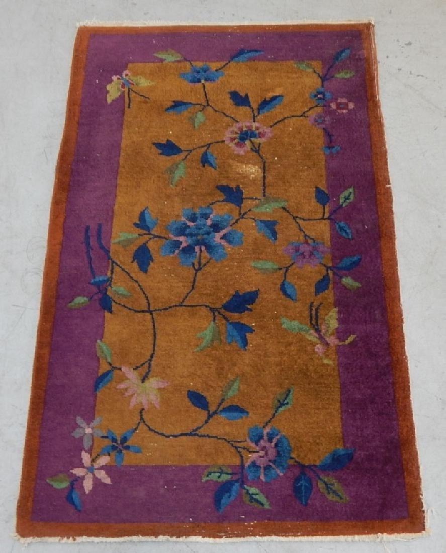 Chinese Art Deco Wool Carpet Rug Runner