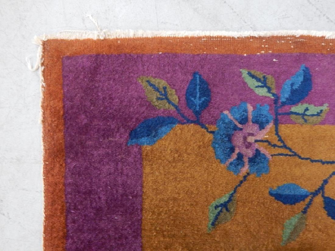 Chinese Art Deco Wool Carpet Rug Runner - 6