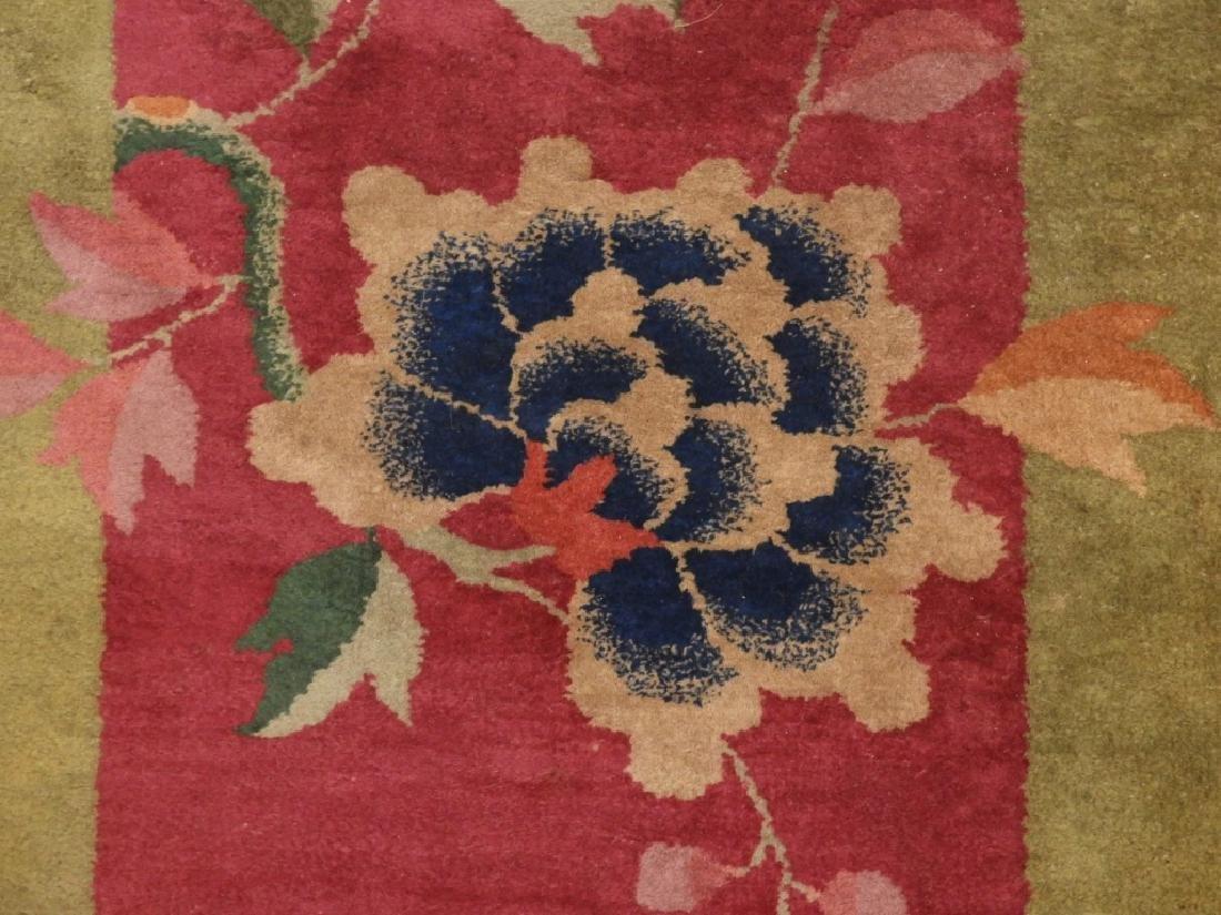 PR Chinese Art Deco Floral Wool Carpet Rug - 3