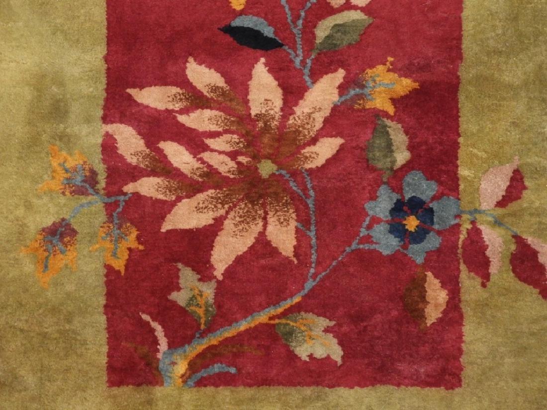 PR Chinese Art Deco Floral Wool Carpet Rug - 4