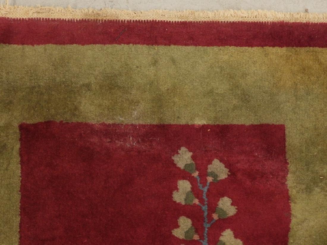 PR Chinese Art Deco Floral Wool Carpet Rug - 5