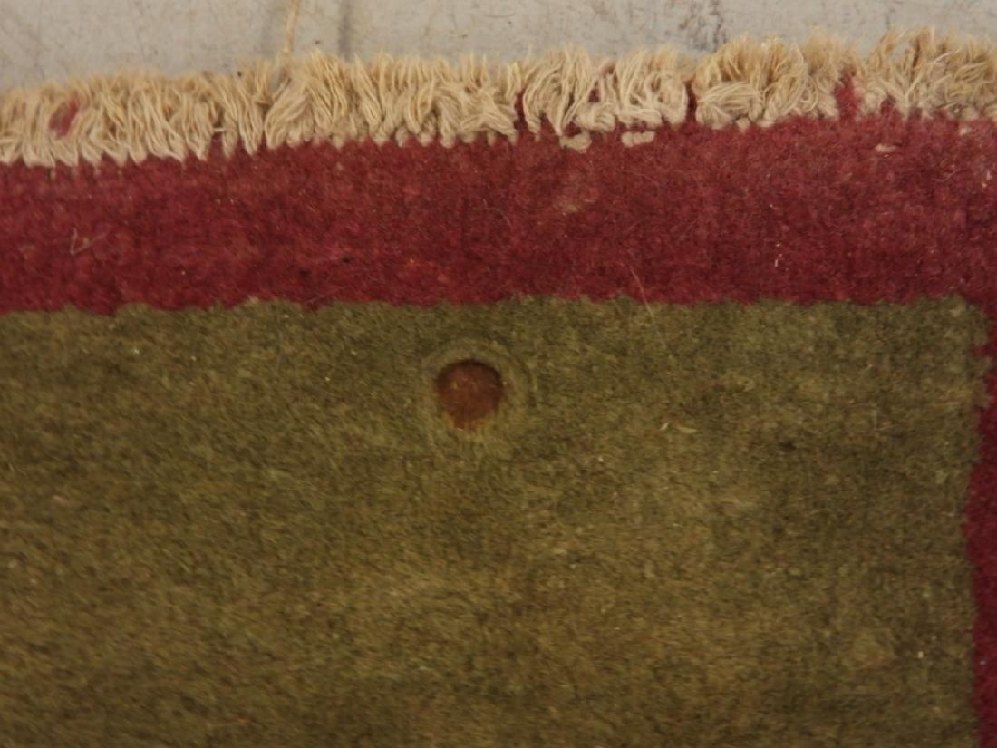 PR Chinese Art Deco Floral Wool Carpet Rug - 6