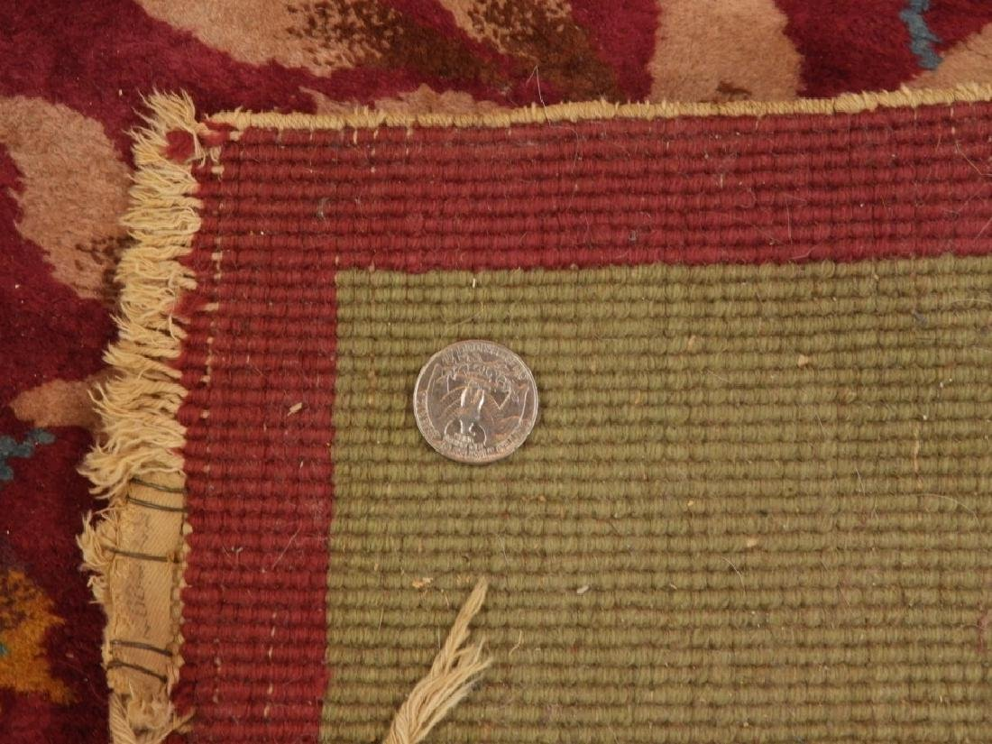 PR Chinese Art Deco Floral Wool Carpet Rug - 7